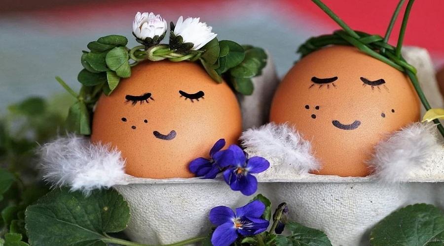 Centro tavola uova